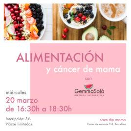 «Alimentación y cáncer de mama» con Gemma Solà