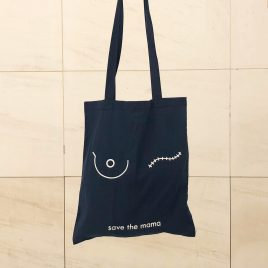 Bolsa azul save the mama
