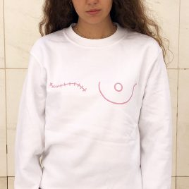 Sudadera blanca save the mama