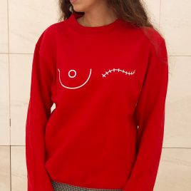 Sudadera roja save the mama