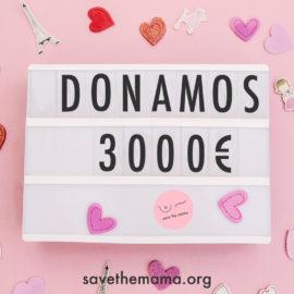 ¡Donamos 3000€ a la investigación del cáncer de mama!